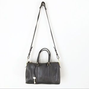 Fossil Cowhide Leather Crossbody Satchel Purse